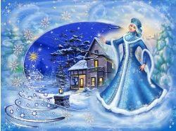 Красивые анимированные картинки зима
