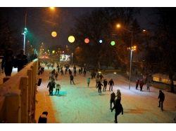 Ледовый парк горького фото зима