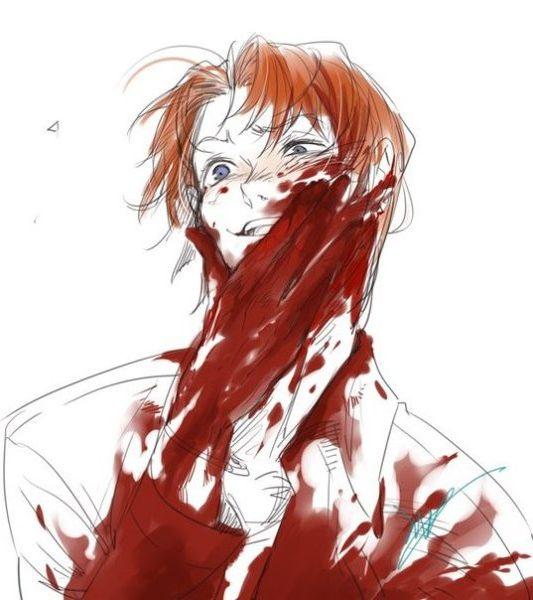 Картинки аниме с кровью страшные