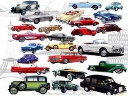 Векторные изображения ретро автомобилей