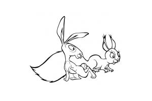 как раскрасить зайца маша и медведь картинки маленькая компания быстро