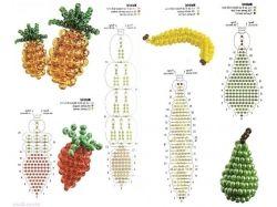 Бисер фрукты овощи фото