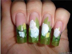 Дизайн ногтей фото цветы мимоза