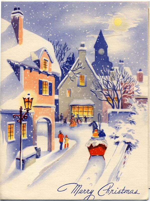 Новогодние европейские открытки