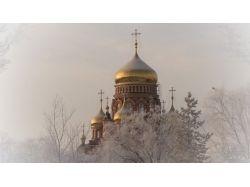 Картинки зима церковь