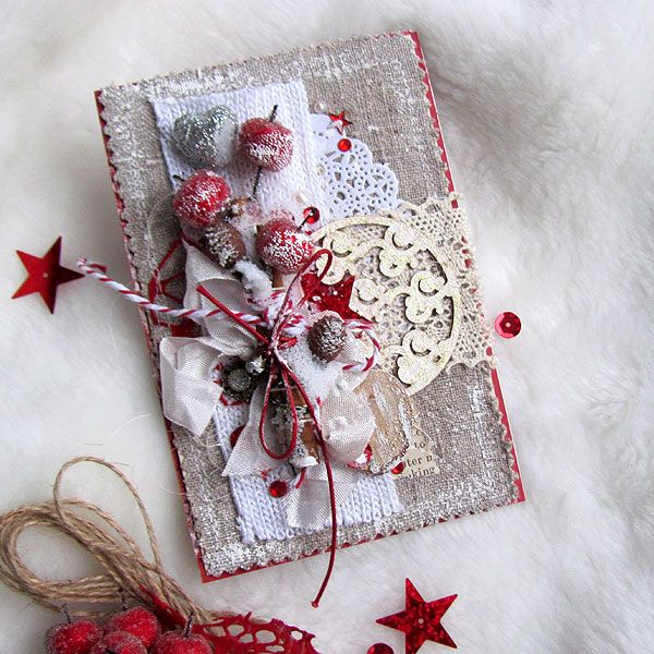 Открытка скрап новый год, открытку