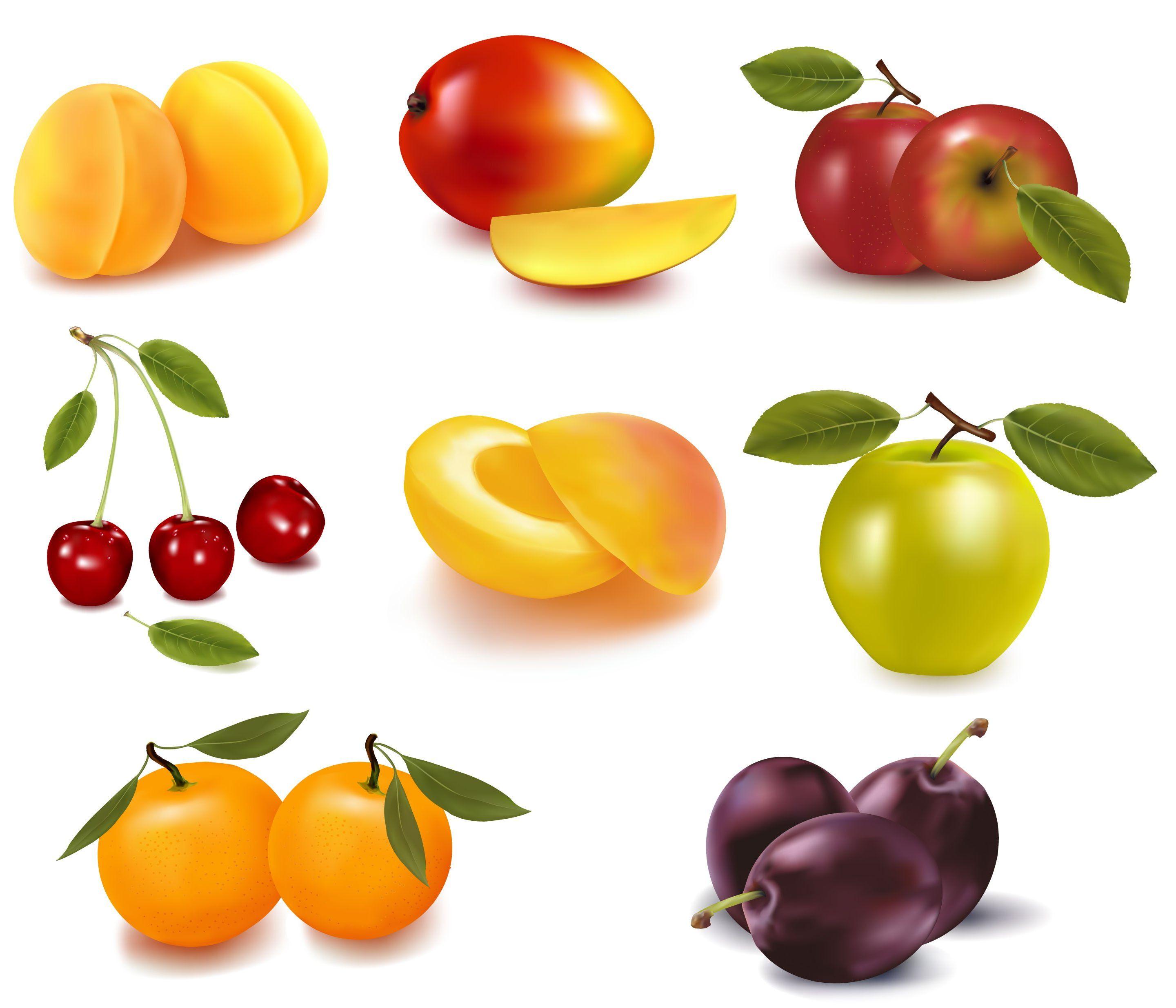 Много фруктов картинки для детей
