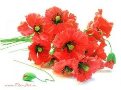 Картинки цветы из глины и свечи