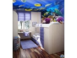 Дизайн детской комнаты - подводный мир