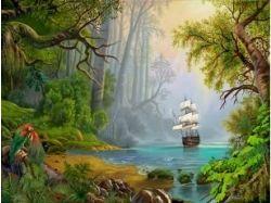 Картинки корабли сказочные