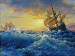 Картинки корабли в шторм