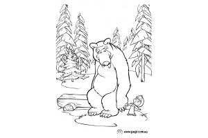 Раскраски маша и медведь распечатать бесплатно