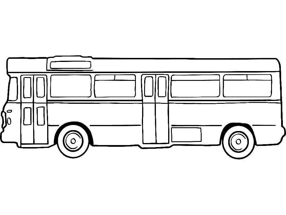 Детские раскраски картинки автобуса » Скачать лучшие ...