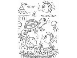 Онлайн раскраски подводный мир