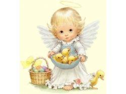 Картинки аниме ангелов природы