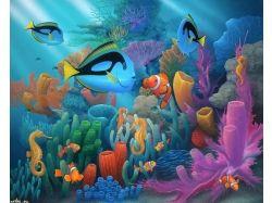Красивые фоновые рисунки подводный мир