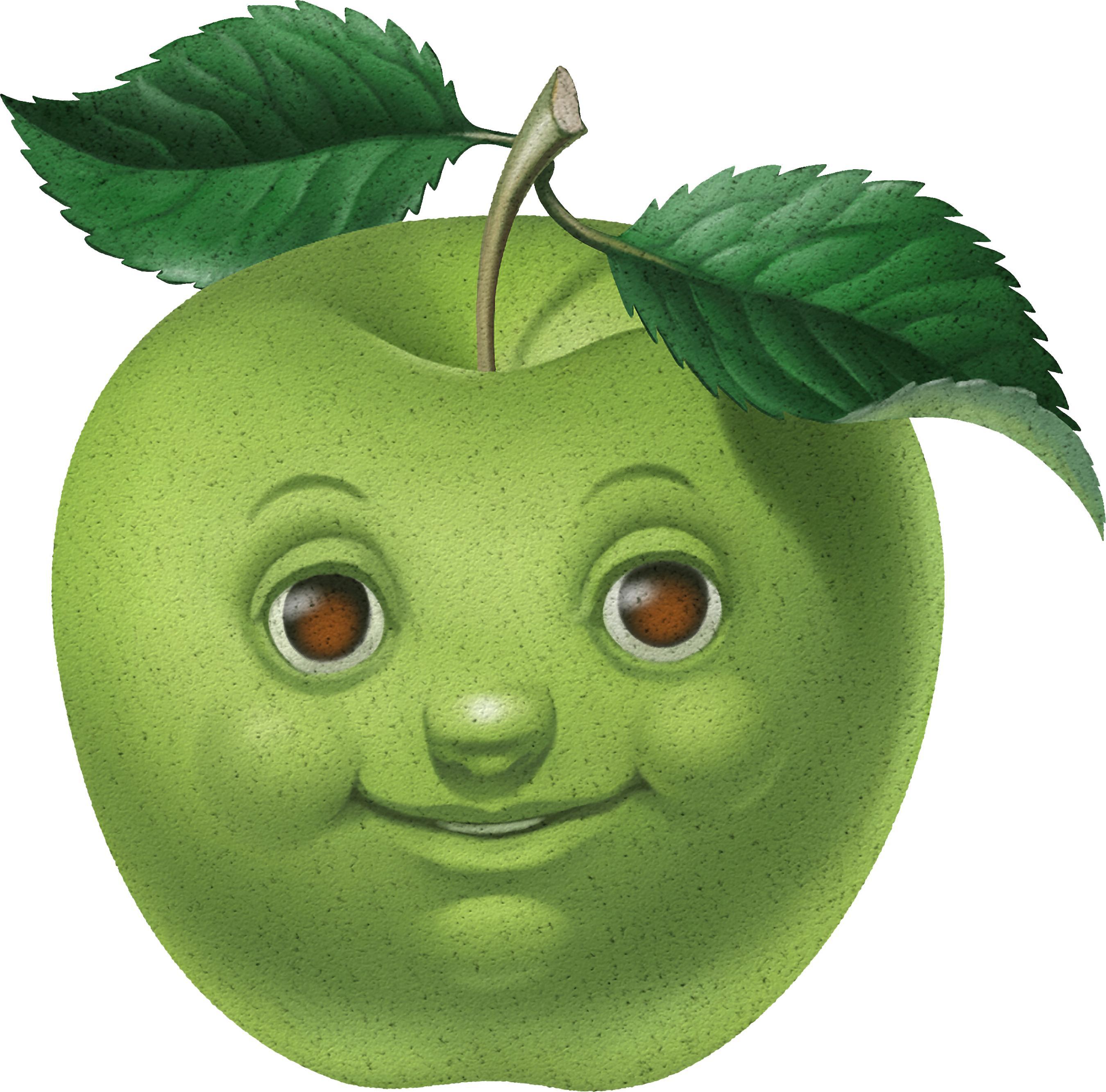 Картинки анимационные яблоко