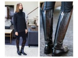 Модные сапоги зима осень фото