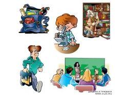 Прикольные картинки  на тему школа