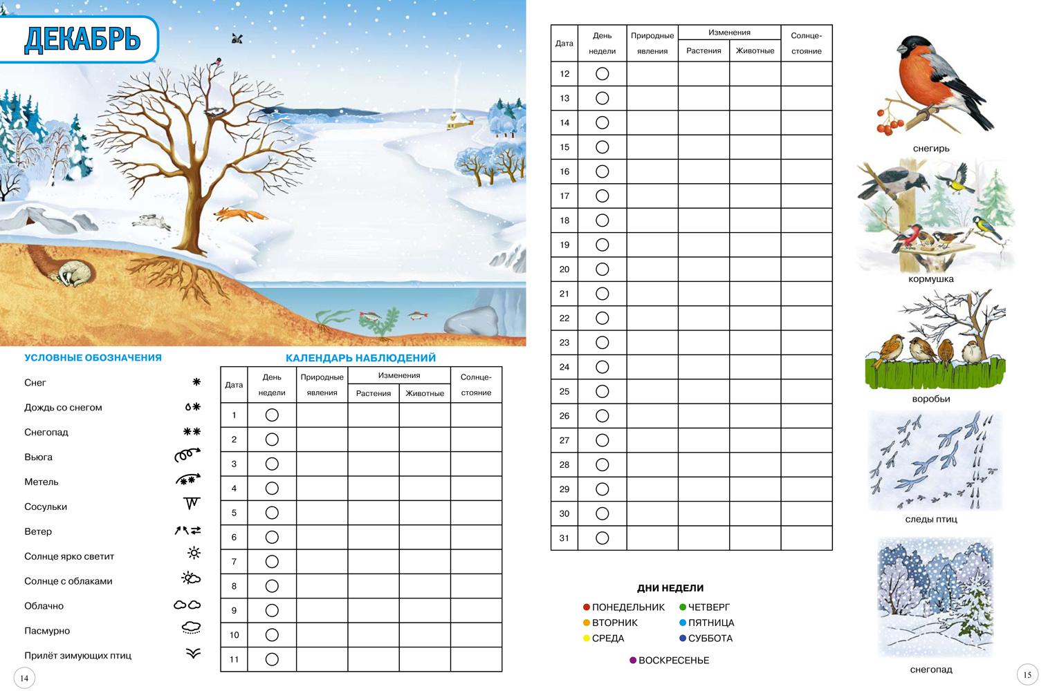 Таблица погоды с картинками