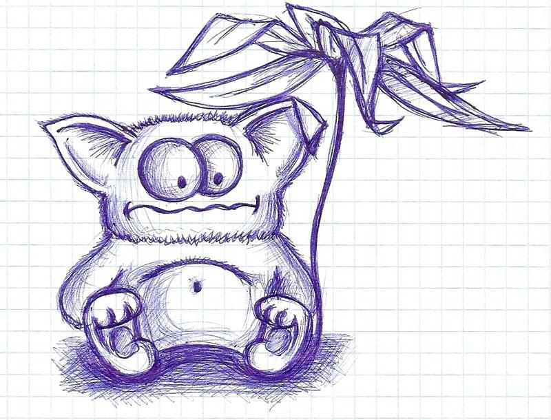 Самые прикольные рисунки ручкой