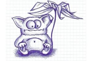 Прикольные рисунки в тетради ручкой