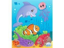 Клипарты подводный мир