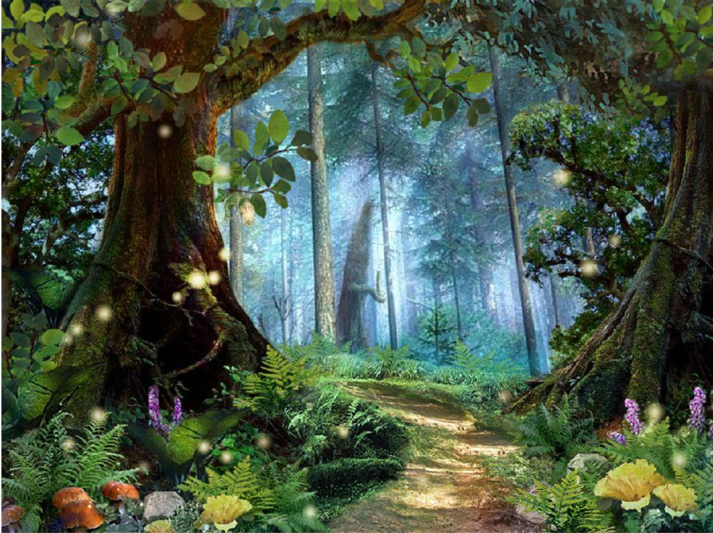 Картина сказочный лес для детей