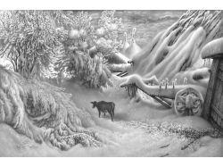 Рисунки природа карандашом