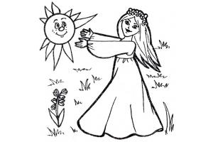Весенние картинки для детей раскраски