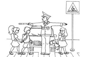 Рисунки правила дорожного движения для детей в картинках раскраски