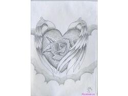 Рисунки карандашом про любовь