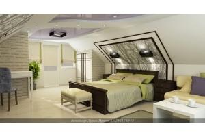 Спальня мансарда интерьер фото