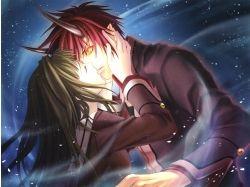 Аниме поцелуй картинки аниме