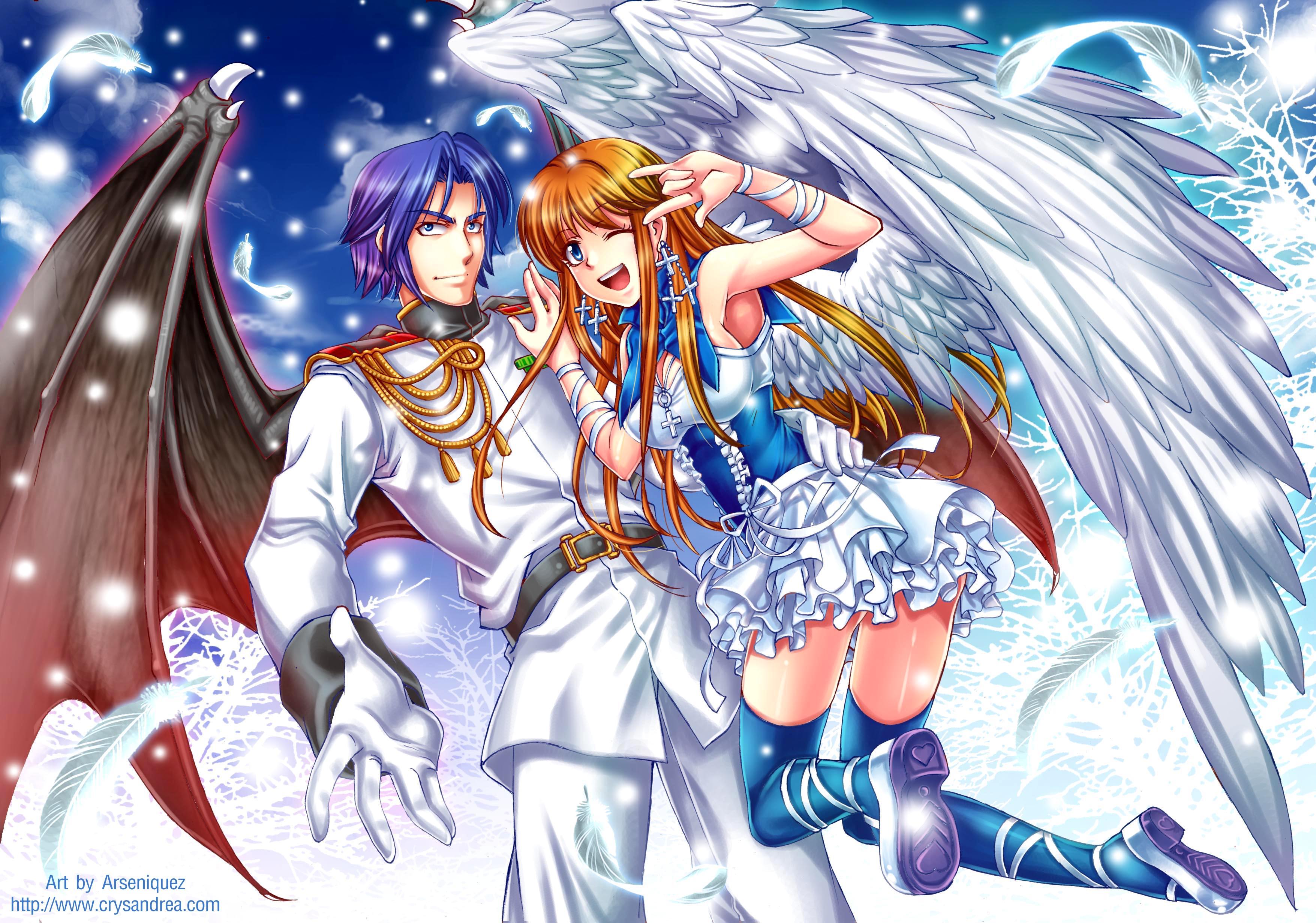 Фото аниме ангелы и демоны