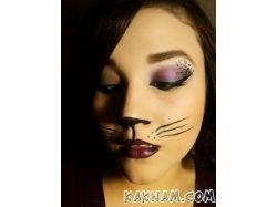 Макияж кошки на хэллоуин фото 7