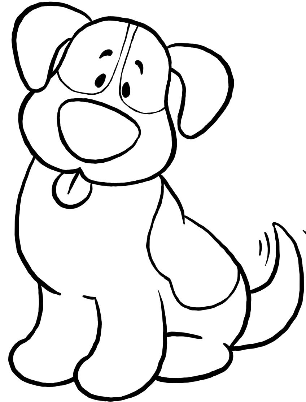 Собака картинки для детей раскраска