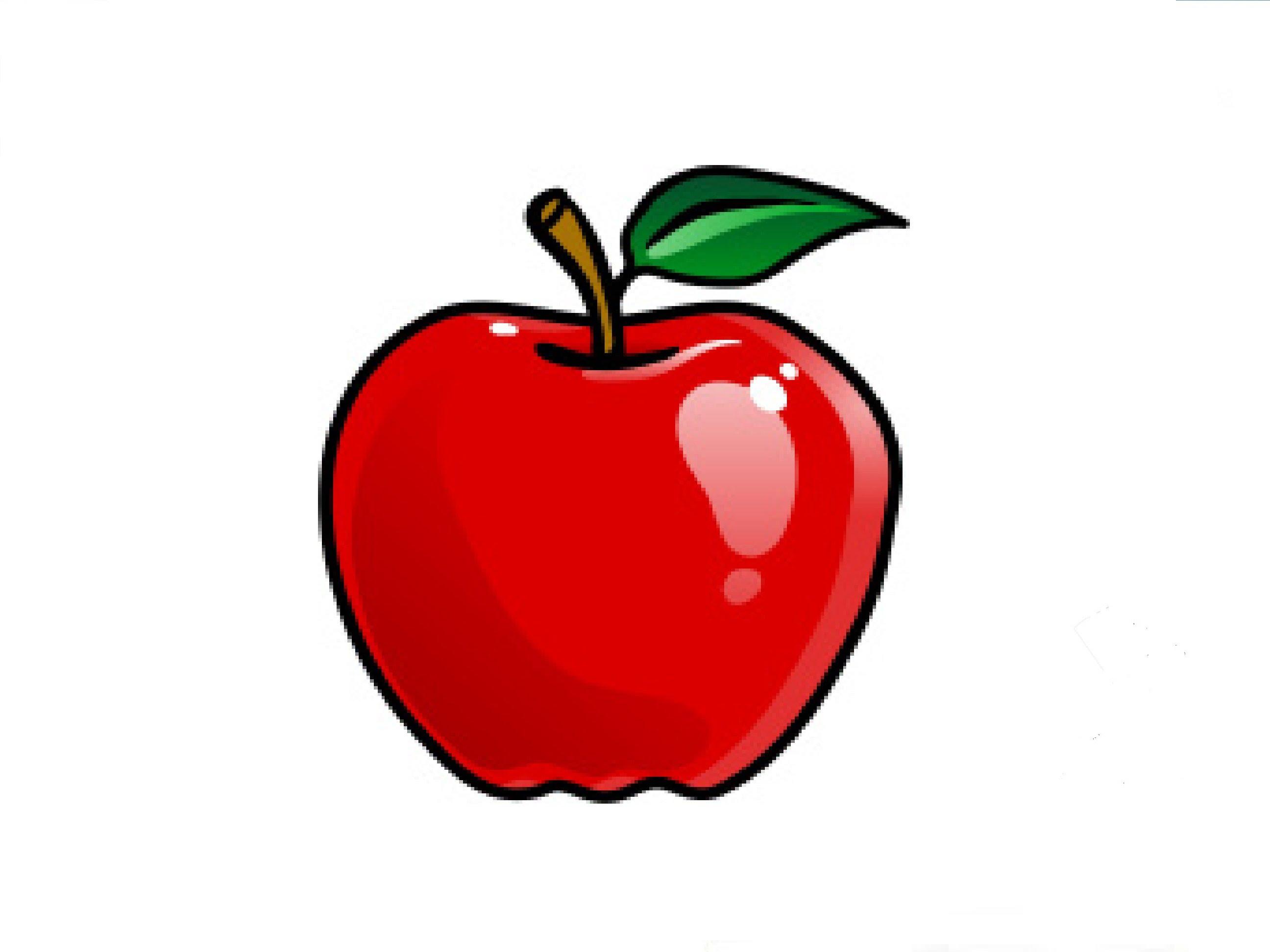 Картинка яблоко для детей