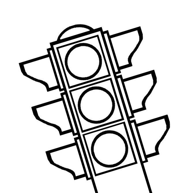 картинки для раскрашивания светофор для малышей интернете