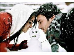 Зима и любовь фото