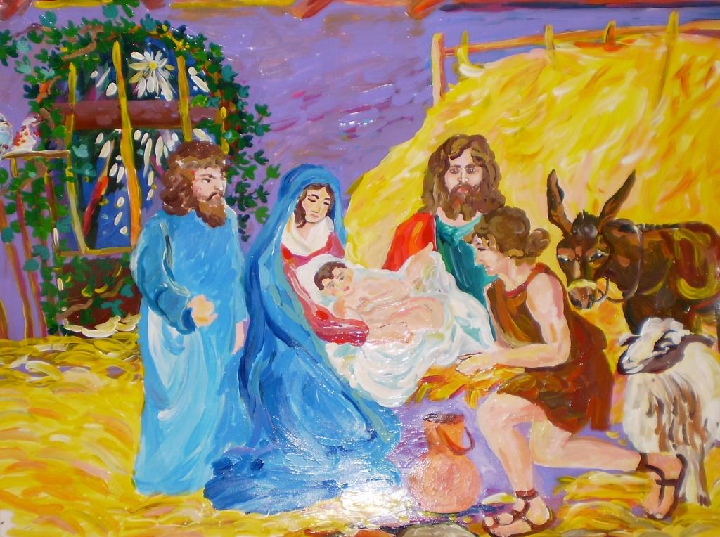 Картинки на тему рождество христово цветные