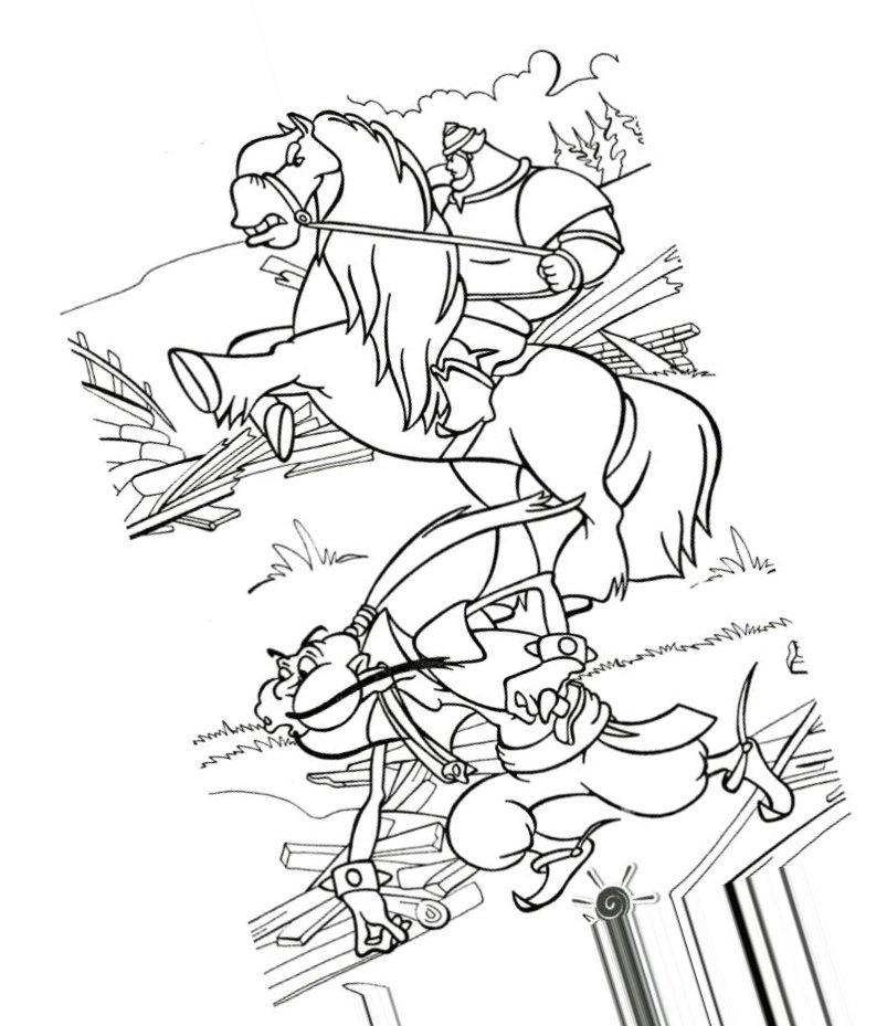 приготовления картинки к былине илья муромец и соловей разбойник карандашом того, как