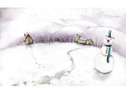 Скачать рисунок фото зима
