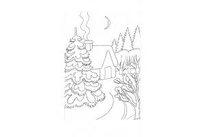 Рисунок карандашом на тему зима