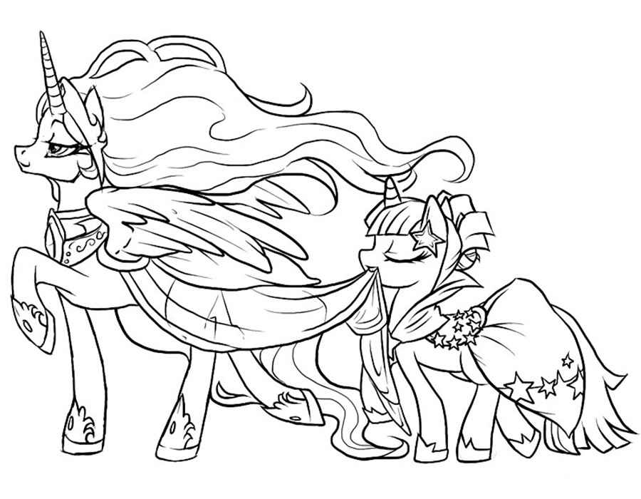 my little pony coloring pages - 1000×778