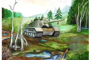 Рисунки на тему война глазами детей
