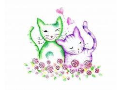 Кошки любовь фото