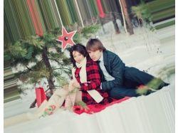 Влюбленная пара фото зима 3