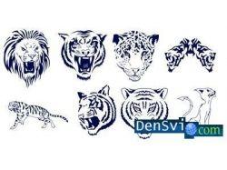 Кисти тигры фотошопа