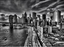 Широкоформатные фото городов черно белые 4